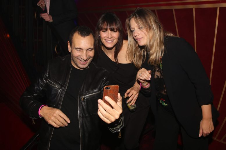 Laetitia Fourcade, Zinedine Soualem et sa compagne Caroline Faindt lors de la soiree d'inauguration du restaurant Roxie a Paris, France, le 27 Novembre 2018. Photo by Jerome Domine/ABACAPRESS.COM
