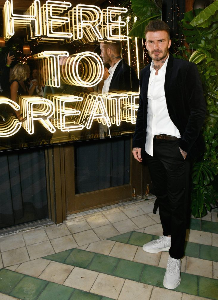 MIAMI, FL - DECEMBER 06: David Beckham attends Adidas Originals, British Fashion Council and David Beckham host a dinner in celebration of their creative collaboration on December 6, 2018 in Miami, United States. (Photo by Getty Images/BFC/Getty Images for BFC) *** Local Caption *** David Beckham