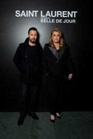 Anthony Vaccarello & Catherine Deneuve
