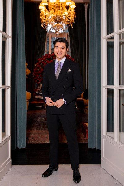 Henry Golding at Ralph Lauren Purple Label Fall 2019 Presentation