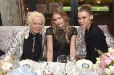 Ellen von Unwerth, Tori Praver and Angela Lindvall attend MAISON-DE-MODE.COM Sustainable Style Gala at Sunset Tower on February 23, 2019 in Los Angeles