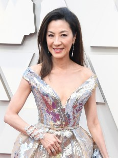 Michelle Yeoh wears Chopard to the 91st Annual Academy Awards on February 24, 2019 in Hollywood 2