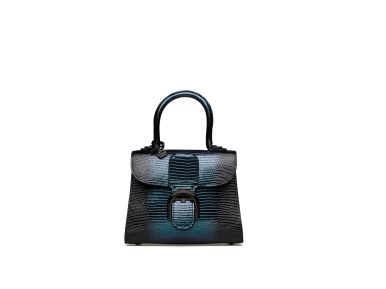 DELVAUX_AH1920_Brillant_Mini_Lizard_Loch_Ness_Noir_Petrole