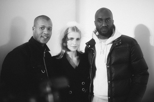 LVMH PRIZE 2019 COCKTAIL - VIRGIL ABLOH, HERON PRESTON AND CAROLINE DAUR © VIRGILE GUINARD