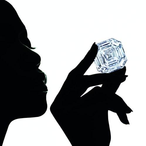 CMYK -1.2 Graff Lesedi La Rona, Largest Square Emerald Cut Diamond, Photography by Ben Hassett