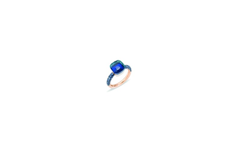 Nudo Deep Blue Ring with London blue topaz & lapis by Pomellato - 3 500€