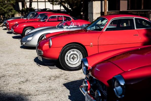 Zagato cars at Nijo Castle