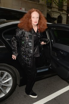NEW YORK, NEW YORK - MAY 06: Grace Coddington departs The Mark Hotel for the 2019 'Camp: Notes on Fashion' Met Gala on May 06, 2019 in New York City. (Photo by Andrew Toth/Getty Images for The Mark Hotel)