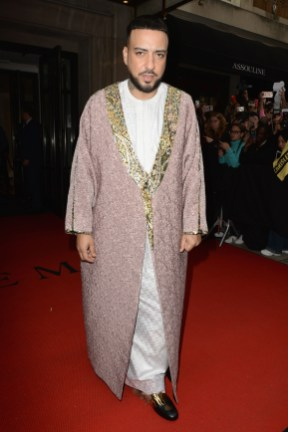 NEW YORK, NEW YORK - MAY 06: French Montana departs The Mark Hotel for the 2019 'Camp: Notes on Fashion' Met Gala on May 06, 2019 in New York City. (Photo by Andrew Toth/Getty Images for The Mark Hotel)