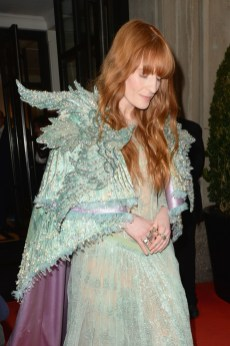 NEW YORK, NEW YORK - MAY 06: Florence Welch departs The Mark Hotel for the 2019 'Camp: Notes on Fashion' Met Gala on May 06, 2019 in New York City. (Photo by Andrew Toth/Getty Images for The Mark Hotel)