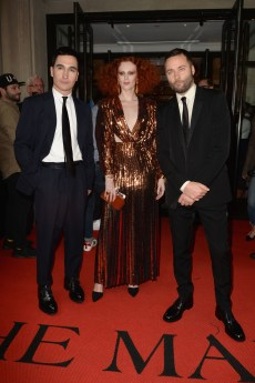 NEW YORK, NEW YORK - MAY 06: Lazaro Hernandez, Karen Elson and Jack McCollough departs The Mark Hotel for the 2019 'Camp: Notes on Fashion' Met Gala on May 06, 2019 in New York City. (Photo by Andrew Toth/Getty Images for The Mark Hotel)
