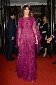 NEW YORK, NEW YORK - MAY 06: Dakota Johnson departs The Mark Hotel for the 2019 'Camp: Notes on Fashion' Met Gala on May 06, 2019 in New York City. (Photo by Andrew Toth/Getty Images for The Mark Hotel)