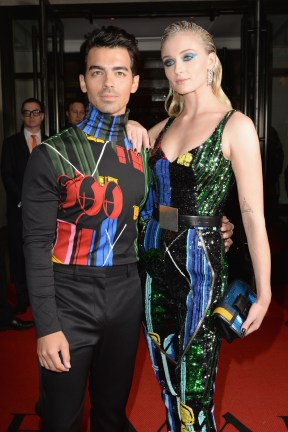 NEW YORK, NEW YORK - MAY 06: Joe Jonas and Sophie Turner depart The Mark Hotel for the 2019 'Camp: Notes on Fashion' Met Gala on May 06, 2019 in New York City. (Photo by Andrew Toth/Getty Images for The Mark Hotel)