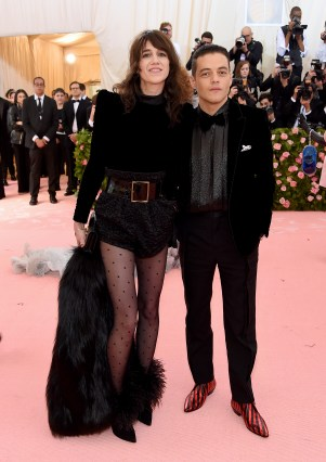 NEW YORK, NEW YORK - MAY 06: Charlotte Gainsbourg and Rami Malek attend The 2019 Met Gala Celebrating Camp: Notes on Fashion at Metropolitan Museum of Art on May 06, 2019 in New York City. (Photo by Jamie McCarthy/Getty Images)