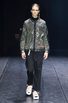 Model wears an outfit , as part of the menswear summer 2020, Paris, France, from the house of Tatras