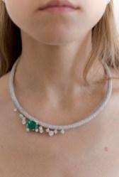 Diamond and Emerald Eva Necklace - USA1796