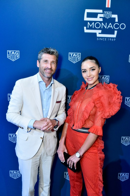 NEW YORK, NEW YORK - JULY 10: Patrick Dempsey and Olivia Culpo attend a TAG Heuer celebration of 50 years of the iconic Monaco Timepiece with brand ambassador Patrick Dempsey on July 10, 2019 in New York City. (Photo by Eugene Gologursky/Getty Images for TAG Heuer)