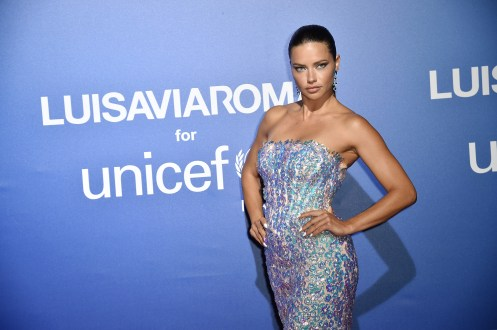 PORTO CERVO, ITALY - AUGUST 09: Adriana Lima attends the photocall at the Unicef Summer Gala Presented by Luisaviaroma at on August 09, 2019 in Porto Cervo, Italy. (Photo by Jacopo Raule/Getty Images for Luisaviaroma)