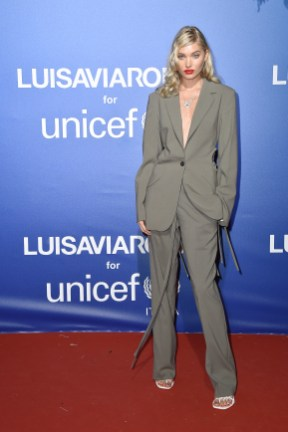 PORTO CERVO, ITALY - AUGUST 09: Elsa Hosk attends the photocall at the Unicef Summer Gala Presented by Luisaviaroma at on August 09, 2019 in Porto Cervo, Italy. (Photo by Jacopo Raule/Getty Images for Luisaviaroma)