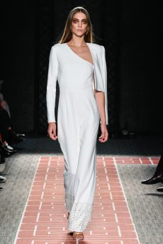 Model wears an outfit , as part of the women ready-to-wear summer 2020, women fashion week, Paris, Fra, from the house of Laroche