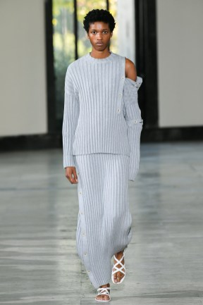 Model wears an outfit , as part of the women ready-to-wear summer 2020, women fashion week, Milan, Ita, from the house of Dawei