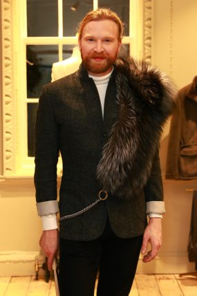LONDON, ENGLAND - NOVEMBER 20: Henry Conway attends the opening celebrations for the J.P Hackett store at No.14 Savile Row on November 20, 2019 in London, England. (Photo by David M. Benett/Dave Benett/Getty Images for Hackett)