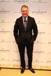 LONDON, ENGLAND - NOVEMBER 20: Chairman & Founder Jeremy Hackett attends the opening celebrations for the J.P Hackett store at No.14 Savile Row on November 20, 2019 in London, England. (Photo by David M. Benett/Dave Benett/Getty Images for Hackett)