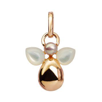 IsabelleLanglois - Mon Ange - Pendentif en or jaune 750 1000 e avec perle de culture et nacre blanche P806-P.PEARL+W.MOP