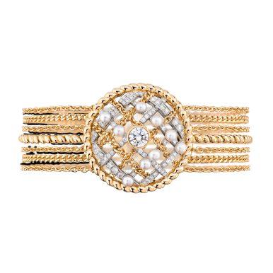 Tweed Cordage Bracelet Yellow Gold-hd