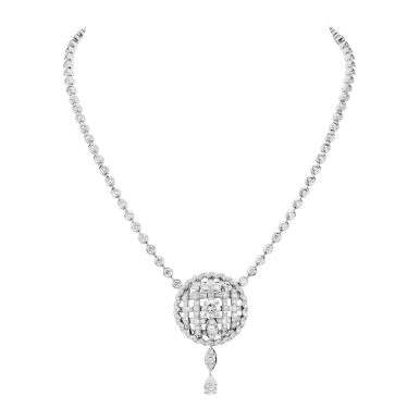 Tweed Cordage Necklace White Gold-hd