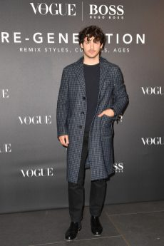 MILAN, ITALY - FEBRUARY 21: Giovanni Masiero arrives for the BOSS & VOGUE Italia Event at Hotel Viu Milan on February 21, 2020 in Milan, Italy. (Photo by Jacopo M. Raule/Getty Images for Boss)