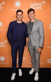 NEW YORK, NEW YORK - MARCH 10: Jordan Stenmark and Zac Stenmark attend as Montblanc celebrates the launch of MB 01 Headphones & Summit 2+ at World of McIntosh on March 10, 2020 in New York City. (Photo by Dimitrios Kambouris/Getty Images for Montblanc)