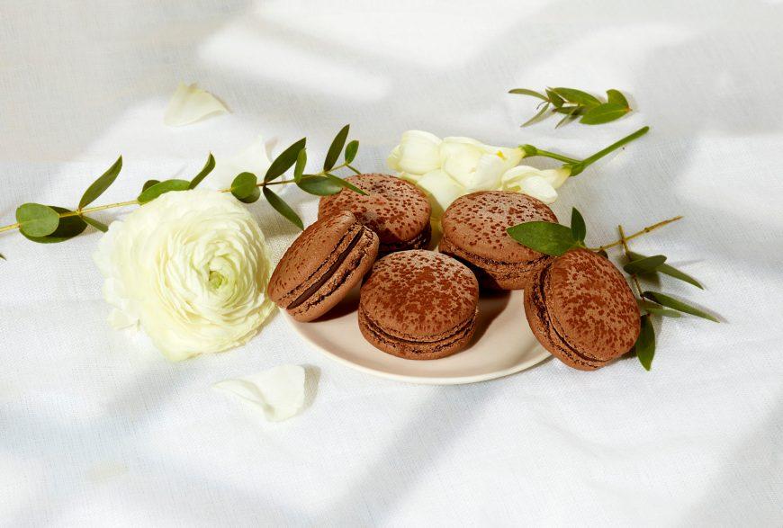 Macaron chocolat vegan large
