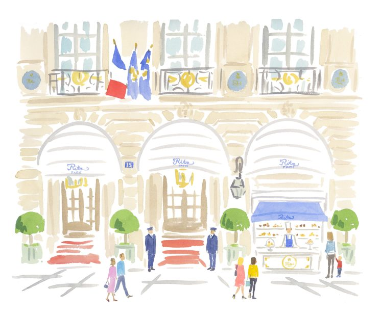 Le petit comptoir de pフisseries du Ritz Paris