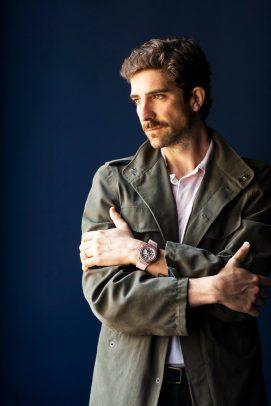 Carlo Borromeo - Director of Garage Italia Style Center - wearing the Big Bang Millennial Pink