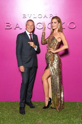 ROME, ITALY - SEPTEMBER 14: Jean-Christophe Babin and Tanja La Croix attend Bulgari Barocco on September 14, 2020 in Rome, Italy. (Photo by Daniele Venturelli/Getty Images for Bulgari)