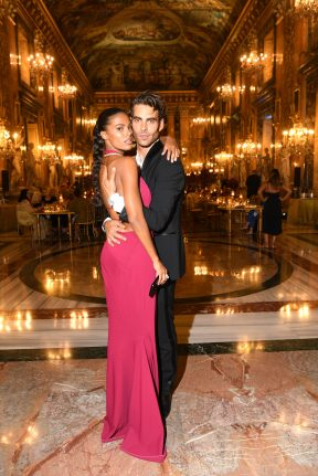 ROME, ITALY - SEPTEMBER 14: Tina Kunakey and Jon Kortajarena attend Bulgari Barocco on September 14, 2020 in Rome, Italy. (Photo by Daniele Venturelli/Getty Images for Bulgari)