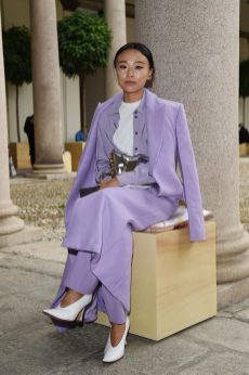 MILAN, ITALY - SEPTEMBER 25: Niki Wu Jie attends the BOSS Fashion Show during the Milan Fashion Week Spring/Summer 2021 on September 25, 2020 in Milan, Italy. (Photo by Stefania M. D'Alessandro/Getty Images for HugoBoss)