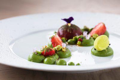 les-tresoms-restaurant-gastronomique-rotonde-petit-pois-foie-gras