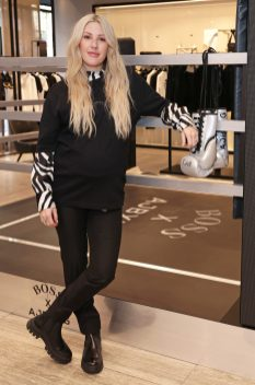 LONDON, ENGLAND - FEBRUARY 24: (EXCLUSIVE FOR EVENING STANDARD) Ellie Goulding attends the unveiling of the BOSS x AJBXNG second capsule collection at BOSS Store, Regent Street, on February 24, 2021 in London, England. Pic Credit: Dave Benett