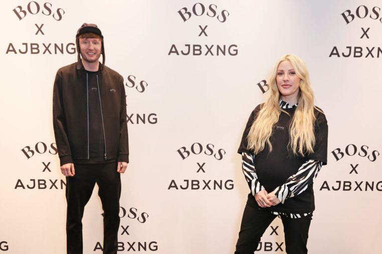 LONDON, ENGLAND - FEBRUARY 24: (EXCLUSIVE FOR EVENING STANDARD) Steve Stamp of Kurupt FM and Ellie Goulding attend the unveiling of the BOSS x AJBXNG second capsule collection at BOSS Store, Regent Street, on February 24, 2021 in London, England. Pic Credit: Dave Benett