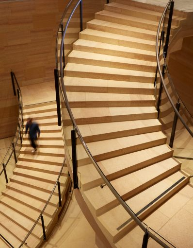 IMAGE 13 - Detail of the Williams Forum stairs seen from level one - Steve Hall © Hall + Merrick Photographers, 2021
