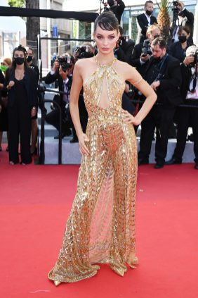 """CANNES, FRANCE - JULY 08: Luma Grothe attends the """"Stillwater"""" screening during the 74th annual Cannes Film Festival on July 08, 2021 in Cannes, France. (Photo by Daniele Venturelli/WireImage)"""