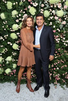 MILAN, ITALY - SEPTEMBER 23: Manuela De Vita and Eddy De Vita are seen at Michael Kors intimate Cocktail Party in Celebration of his 40th Anniversary on September 23, 2021 in Milan, Italy. (Photo by Victor Boyko/Getty Images for Michael Kors)