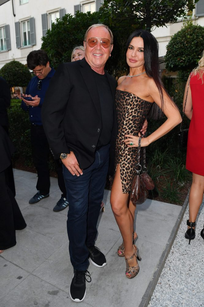 MILAN, ITALY - SEPTEMBER 23: Michael Kors and Alessia Moon are seen at Michael Kors intimate Cocktail Party in Celebration of his 40th Anniversary on September 23, 2021 in Milan, Italy. (Photo by Jacopo M. Raule/Getty Images for Michael Kors)