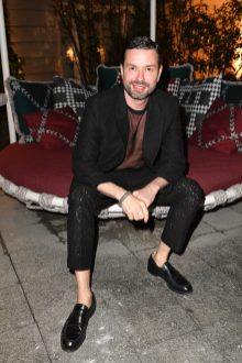 MILAN, ITALY - SEPTEMBER 23: Maxim Sapozhnikov is seen at Michael Kors intimate Cocktail Party in Celebration of his 40th Anniversary on September 23, 2021 in Milan, Italy. (Photo by Jacopo M. Raule/Getty Images for Michael Kors)