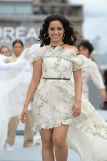 """PARIS, FRANCE - OCTOBER 03: Camila Cabello walks the runway during """"Le Defile L'Oreal Paris 2021"""" as part of Paris Fashion Week on October 03, 2021 in Paris, France. (Photo by Kristy Sparow/Getty Images for L'Oreal)"""