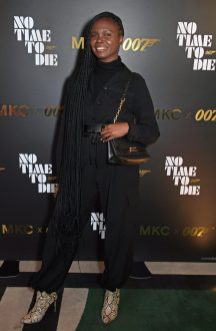 LONDON, ENGLAND - SEPTEMBER 29: Deborah Ababio attends a private screening of 'No Time To Die' hosted by Michael Kors in celebration of the Michael Kors Bond 007 Capsule Collection partnership, at the Everyman Chelsea on September 29, 2021 in London, England. (Photo by David M. Benett/Dave Benett/Getty Images for Michael Kors)