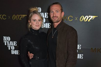 LONDON, ENGLAND - SEPTEMBER 29: Cressida Bonas and Jacobi Anstruther-Gough-Calthorpe attend a private screening of 'No Time To Die' hosted by Michael Kors in celebration of the Michael Kors Bond 007 Capsule Collection partnership, at the Everyman Chelsea on September 29, 2021 in London, England. (Photo by David M. Benett/Dave Benett/Getty Images for Michael Kors)