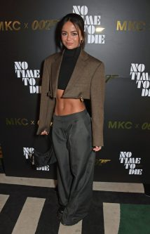 LONDON, ENGLAND - SEPTEMBER 29: Safaa Alban Lloyd attends a private screening of 'No Time To Die' hosted by Michael Kors in celebration of the Michael Kors Bond 007 Capsule Collection partnership, at the Everyman Chelsea on September 29, 2021 in London, England. (Photo by David M. Benett/Dave Benett/Getty Images for Michael Kors)